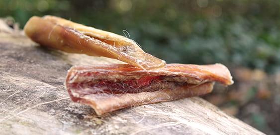 Kauartikel für Hunde: Rinderkopfhaut