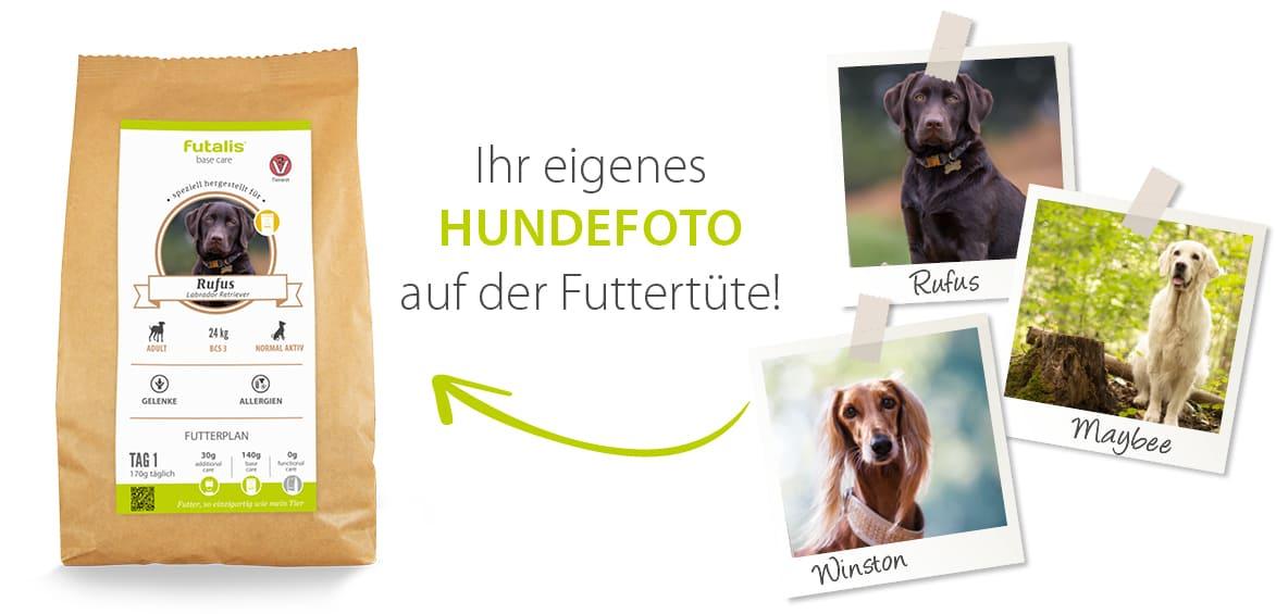 Hundefutter mit eigenem Hundefoto