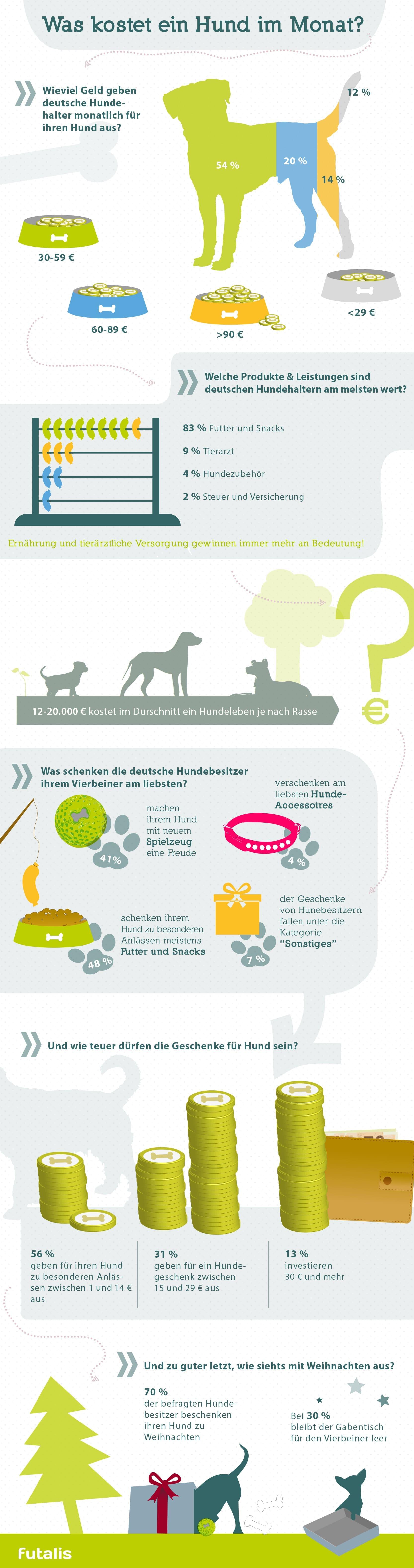 Infografik: Was kostet ein Hund im Monat?