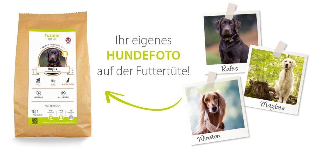 Hundefutter Tüte mit eigenem Foto