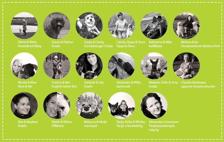 Mitwirkende am Hundetrick-E-Book